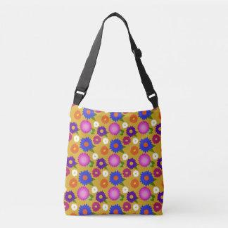 Mustard Yellow Flowers Floral Pattern Feminine Crossbody Bag
