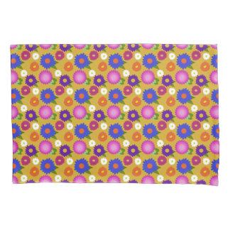 Mustard Yellow Flowers Floral Pattern Feminine Pillowcase