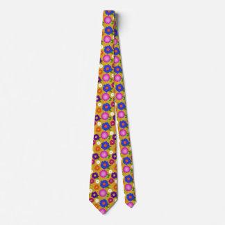 Mustard Yellow Flowers Floral Pattern Feminine Tie