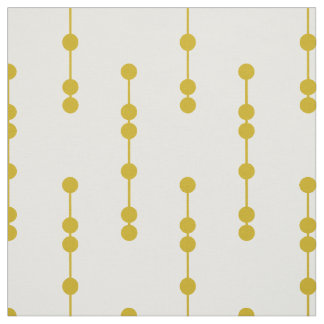 Mustard Yellow Geometric Dots Pattern Fabric
