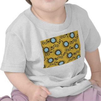 Mustard yellow polka dot pattern tee shirt