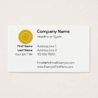 Mustard Yellow Round Graphic. Business Card