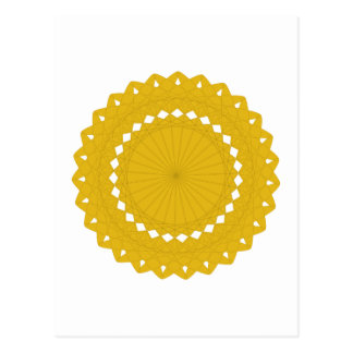 Mustard Yellow Round Graphic. Postcard