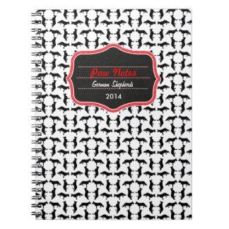 Muster Schäferhund Spiral Note Books