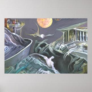 Mutant landscape ' Fulcontrast ' Poster