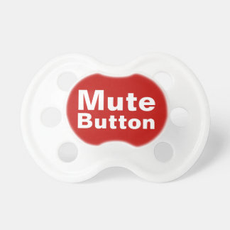 Mute Button Funny Baby Pacifiers