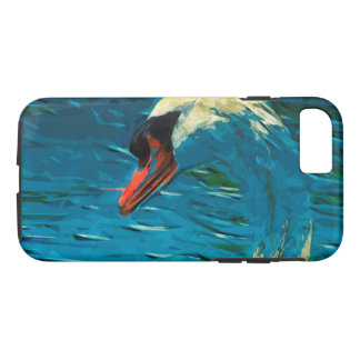 Mute Swan Abstract Impressionism iPhone 7 Case