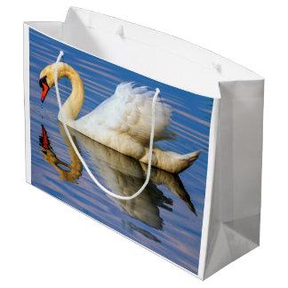 Mute swan, cygnus olor large gift bag