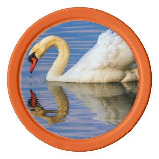 Mute swan, cygnus olor poker chips