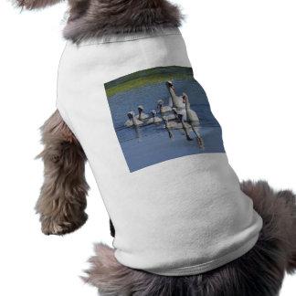 Mute Swan Family Dog T-shirt