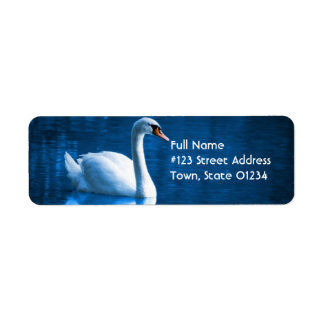Mute Swan Mailing Label Return Address Label