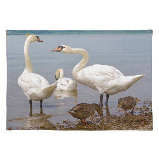Mute swans and ducks placemat