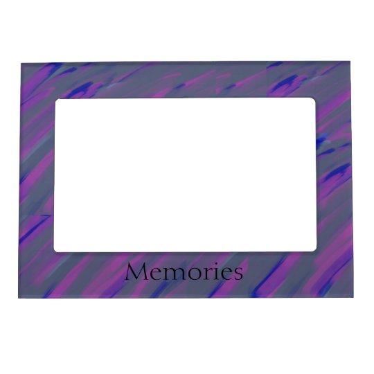 Muted Brushstroke 'Memories' Frame Magnet