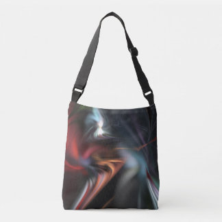 Muted Color Abduction Fractal Crossbody Bag