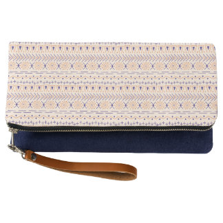 Muted Desert - Modern Tribal - Foldover Clutch