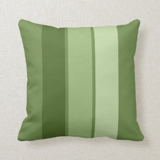 """Muted Greens 3 Stripe 16"""" Square Throw Pillow"""