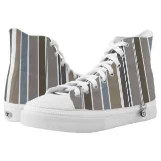 Muted Modern Stripes High Tops