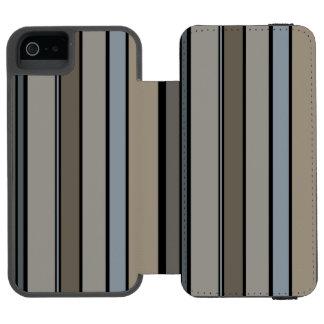 Muted Modern Stripes Incipio Watson™ iPhone 5 Wallet Case