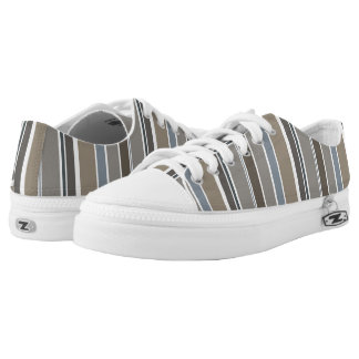 Muted Modern Stripes Low-Top Sneakers