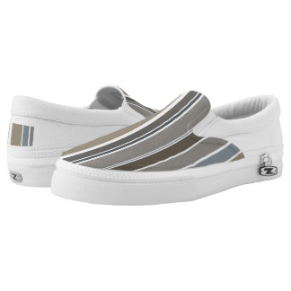 Muted Modern Stripes Slip-On Sneakers