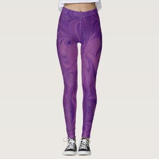 Muted purple marbled leggings