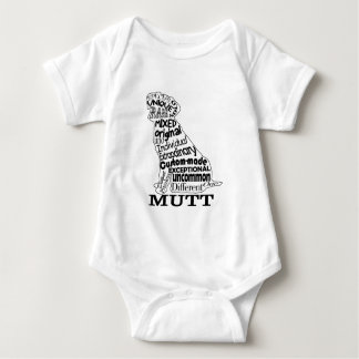 Mutt Dog Lover's Casual Apparel Baby Bodysuit