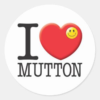Mutton Classic Round Sticker