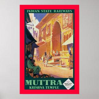 Muttra ~ Krishna Temple Poster