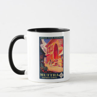 Muttra Krishna Temple Travel Poster Mug