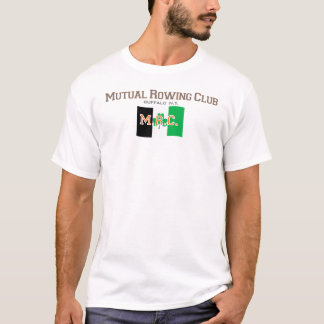 Mutual Rowing Club, Buffalo NY Flag Front Only T-Shirt