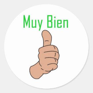 Muy Bien Round Sticker