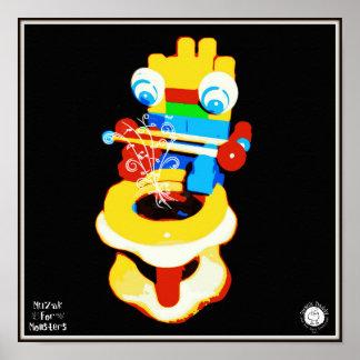 Muzak For Monsters: Drum Poster