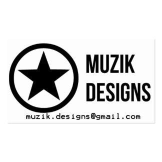 Muzik conçoit des cartes de visite carte de visite