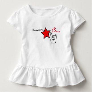 MuZiK iS... Girls Ruffle with Star and Rock Hand Toddler T-shirt