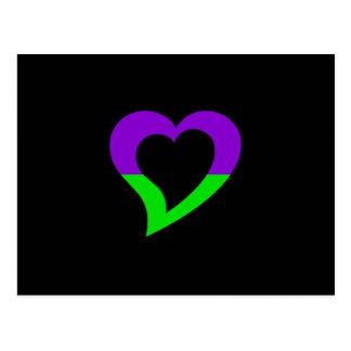 mv Logo Design - Love and Fun - mv Heart Postcard