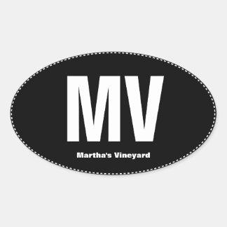 MV Pull Martha's Vineyard Oval Bumper Sticker