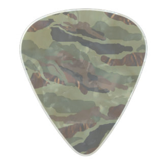 MVB Camouflage Design Pearl Celluloid Guitar Pick