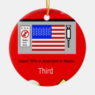 MW America' rich 1% First Ceramic Ornament
