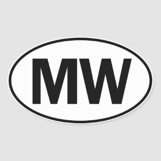 MW Oval Identity Sign Oval Sticker