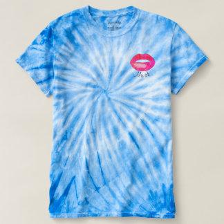 MWAH kiss tie dye t shirt