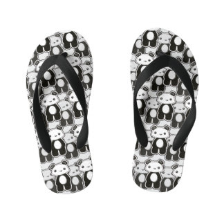Mwah Panda Kids shoe designed by Nichola Artemenko Kid's Flip Flops