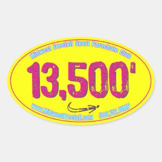MWFF 13-5 Hot Pink & Yellow Oval Sticker