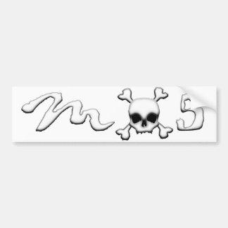 MX5 skull Bumper Sticker