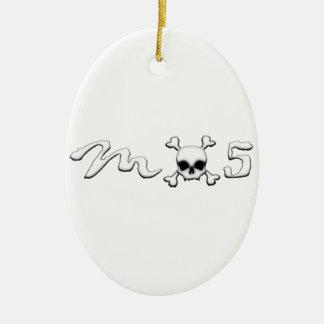 MX5 skull Ceramic Oval Ornament