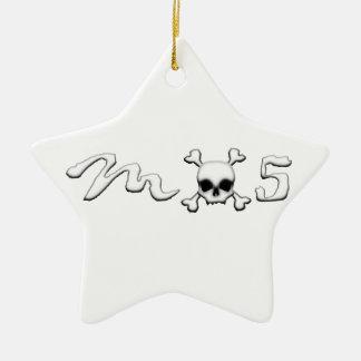 MX5 skull Ceramic Star Ornament