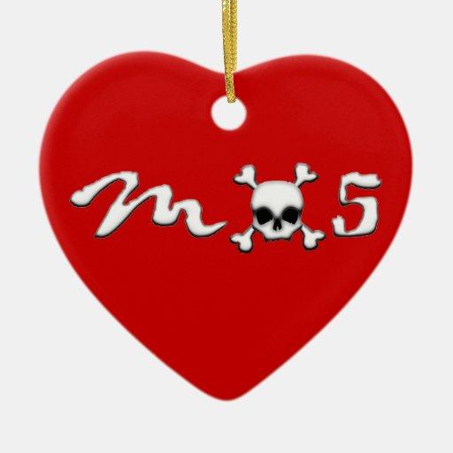 MX5 skull Christmas Ornament