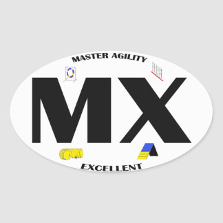 MX Dog Agility Title Sticker