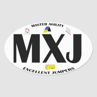 MXJ Dog Agility title Sticker