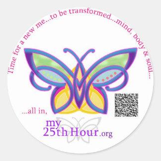"my25thhour - 3"" sticker -transformed"