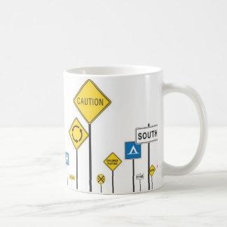 My66 road signs 2 coffee mug